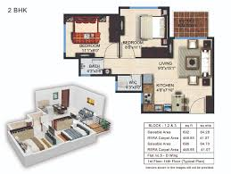 unit plan of 1 bhk 2 bhk studio flats in bangalore pashmina
