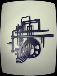 art deco midcentury modern mcm design metal wall art mid century