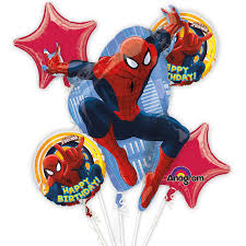 mylar balloon bouquet ultimate spider birthday mylar balloon bouquet inflated