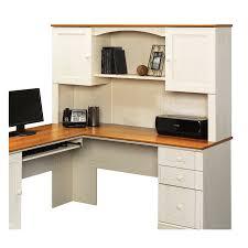 Sauder Harbor View Computer Desk With Hutch Salt Oak by Sauder L Shaped Desk Best Home Furniture Decoration