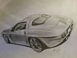 Chevrolet Corvette Stingray 1963 Drawing By Zoky88 On Deviantart
