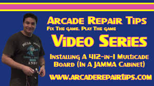 arcade repair tips installing a 412 in 1 multigame board in a