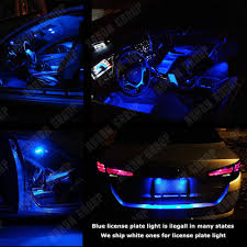 Led Light Bulbs For Car Interior by 8pcs Blue Interior Led Bulbs 2000 2016 Toyota Corolla White For