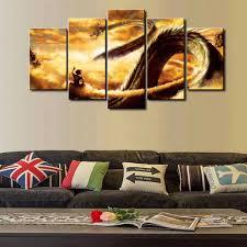 dbz new sel 5 piece modular home decor wall art dragon ball