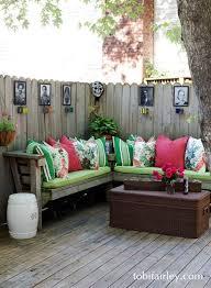 deck seating diy garden ideas on we heart it