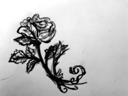 simple tiny rose sketch by flower panda boy on deviantart