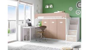 lit surélevé avec bureau lit mezzanine avec bureau moderne et glicerio so nuit