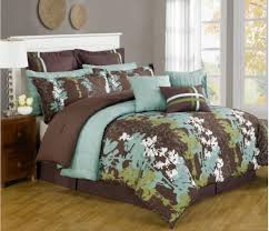 beautiful spring bedroom decor with brown and turquoise bedding originalviews