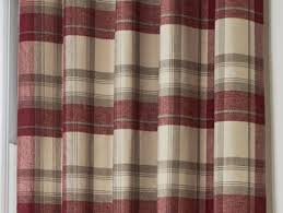 Pink Tartan Curtains Brook Checked Lined Curtains 90 X 90 Plaid Tartan Burgundy