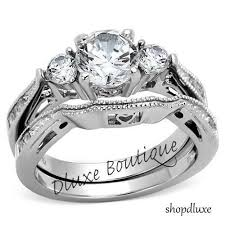 stainless steel wedding rings 7 best women s stainless steel wedding ring sets images on
