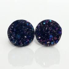 druzy stud earrings new stud earrings on poshmark