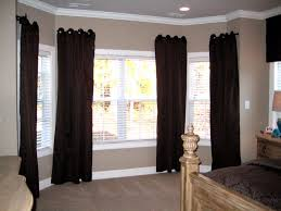bay window decorations with classic textile curtain ornament