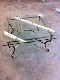 glass metal dining table simple and neat furniture for vintage dining room decoration using
