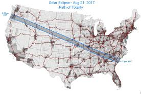 Usa Interstate Map by Total Solar Eclipse Of 2017 August 21 Vivid Maps