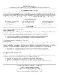 Sample Consultant Resume by Example Loan Consultant Resume Free Sample