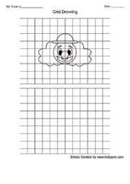 art grid clown drawing worksheet for ukg art grid drawing