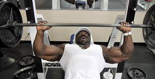Bodybuilder Bench Press Kali Muscle Trains Chest