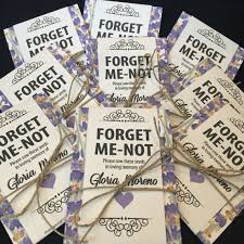 forget me not seed packets personalized memorial forget me not seed packets in lavender