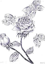 roses and butterflies by cr3pixie on deviantart