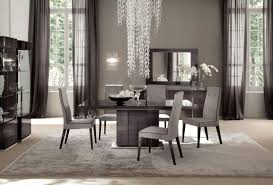 Contemporary White Dining Room Sets - kitchen chandelier black stained wooden natural feel table best