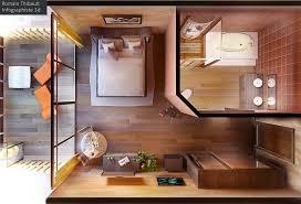 chambre en 3d thibault infographiste 3d freelance perspective 3d