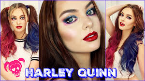 harley quinn makeup u0026 hair tutorial squad youtube