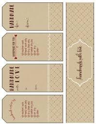 free printable gift tags handmade with printable craft