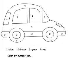 pictures color numbers worksheets kindergarten bridal