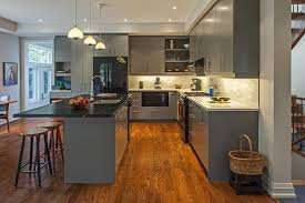 grey kitchen cabinets with brown wood floors virtues of gray kitchen design ideas my ideal home