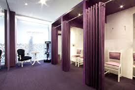 spacious dressing rooms with an intimate atmosphere interior
