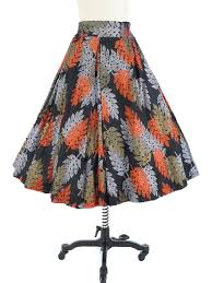 hawaiian pattern skirt 50s paradise hawaii swing skirt 1950s vintage clothing blue velvet