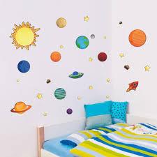 Stickers For Kids Room Aliexpress Com Buy Solar System Wall Stickers For Kids Rooms