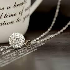 rhinestone pendant necklace images 14mm ball shaped rhinestone pendant necklace white jewelry millions jpg