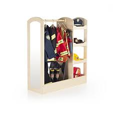 amazon com guidecraft see and store dress up center play set