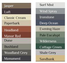 dulux paper bark colour roofcolours l roof colours l