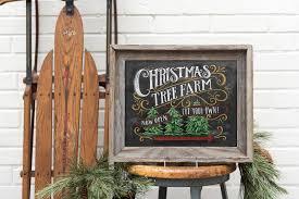 christmas tree farm sign lumberjack decor christmas home decor