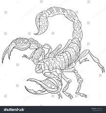 zentangle stylized cartoon scorpio zodiac sign stock vector