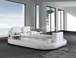 Bed Frame With Tv In Footboard G1031 Foshan Furniture Manufacturer King Size Leather Bed With Tv
