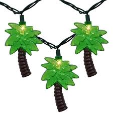 palm tree solar lights outdoor tropical palm tree string lights