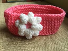 crochet hair bands pink parfait crochet hair band ear by haniascreations