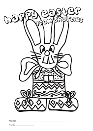 shorties easter colouring competition