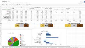 Product Inventory Spreadsheet The Egg Baron Trading Post Portfolio Spreadsheet