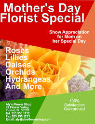 mother u0027s day florist flyer template for inkscape free download
