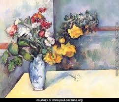 Flowers In A Vase Images Paul Cezanne The Complete Works Still Life Flowers In A Vase