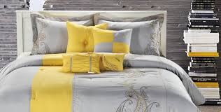 Yellow Comforter Twin Bedding Set Exceptional Black White And Yellow Twin Bedding