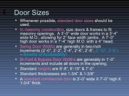 Interior Door Width Code by The Door U0026 Frame Schedule