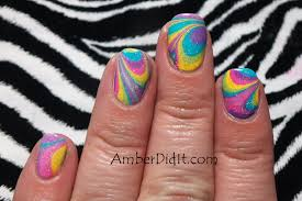 amber did it rainbow water marble