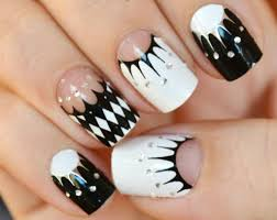 22 stylish black and white nail art designs clare k