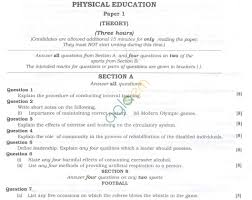 isc question papers 2013 for class 12 u2013 physical education