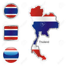 Flag Of Thailand Fully Editable Flag Of Thailand In Map And Internet Buttons Shape